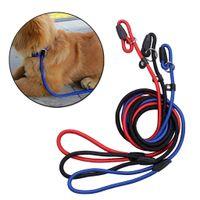 Wholesale Rope Slip Leash - Pet Dog Nylon Adjustable Collar Training Loop Slip Leash Rope Lead Small Size Red Blue Black Color