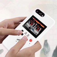 Wholesale iphone plus game case for sale - Rechargeable Color LCD Mini Handheld Game Consoles Portable Retro Mini Game Console hpone case Silica gel protective sleeve For iphoneX XS