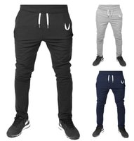 Wholesale Cotton Men full sportswear Pants Casual Elastic cotton Mens Fitness Workout Pants skinny Sweatpants Trousers Jogger Pants
