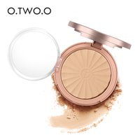 mejor polvo facial resistente al agua al por mayor-O.TWO.O 9114 Rose Gold Powder Exclusivo Skin Poudre Compacte Radiance Powder Pressed Powder 8 colores