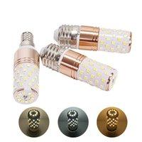 e14 führte kronleuchter großhandel-E14 E27 LED Birnen-Lampe 3 Farbtemperatur Integrierte Mais-Birnen-Leuchter Kerzenlampe 12W 16W SMD2835 Lampada Ampoule Bombilla AC85-265V