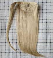 "Wholesale Ponytail Hair Extension Blonde - 12"" 60G Cheap Factory Direct 100% Human Hair Clip in Ponytail Clip in One Piece Wrap Around Poytail Human Hair Extensions"