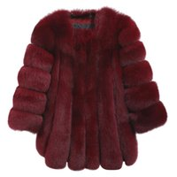 Wholesale thick white fur luxury coat - 2017 Winter Warm Coat Female Luxury Faux Fur Soft Long Solid Color Coat High Quality Size M-4XL Thick Overcoat New