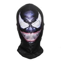 schädel gesicht großhandel-SzBlaZe Brand New Supper Held Venom Balaclava Maske Halloween Vollgesichts Klassische Cosplay strumpfmaske War Game Skullies Beanies