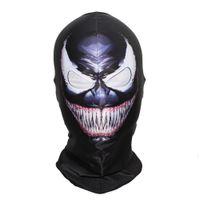 бобы с полным лицом оптовых-SzBlaZe  New Supper Hero Venom Balaclava Mask Halloween Full Face Classic Cosplay Stocking mask War Game Skullies Beanies