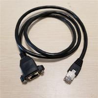 rj45 rj 45 venda por atacado-10 pçs / lote Parafuso Bloqueio de Montagem Em Painel RJ-45 RJ45 Cat5 Macho para Fêmea Extensão Cabo De Rede Ethernet 1 M