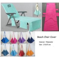Wholesale lounge chairs wholesale - Summer Beach Chair Cover Lounger Beach Towel Sunbath Lounger Bed Garden Beach Chair Cover Towels Lounge Chair cover KKA4475