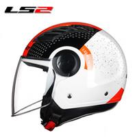 Wholesale ls2 helmet open face - LS2 OF562 airflow open face motorcycle helmet jet scooter half face motorbike helmets man woman original LS2 vespa summer helmet