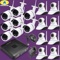 16-кратная система cctv оптовых-Беспроволочная система CCTV наблюдения камеры IP набора 1080P HD набора 16CH 4CH NVR камеры слежения 16ch напольная водоустойчивая