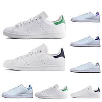 zapatos de marca de moda al por mayor-Adidas stan Smith Zapatos casual baratos 2018 Smith Raf Simons Stan Smiths Spring Copper Blanco Verde Negro Zapatos de moda de marca de cuero para mujer Tallas 36-45