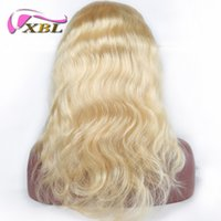 Wholesale human hair wig remy glueless online - XBL Front Lace Wig Blonde for Women with Baby Hair Glueless Brazilian Virgin Human Hair Wigs
