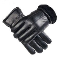 ingrosso guanti di pelliccia neri-Guanti invernali Valpeak 2017 maschile in montone spesso Guanti in vera pelle maschile mantengono caldi i guanti in pelliccia di cachemire nero
