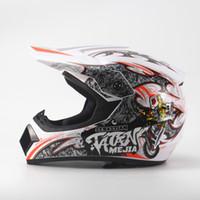 ingrosso casco moto nero giallo-TATAN MEJIA casco da motocross ciclo Caschi moto moto Bicicletta elettrica Ciclismo ABS Giallo Nero Bianco S M L XL 1 pz