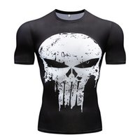 Wholesale wholesale play for sale - Gyms men s t shirt Summer Fitness D T Shirt Role Playing Compression Shirt Fitness Slim Tops Men s work out clothing
