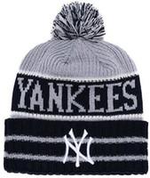 new york beanie hüte großhandel-2019 Winter New York Mütze NY Mützen Skull Hat für Männer Frauen Strickmütze Wollmütze Mann Knit Bonnet Mützen Warme Baseball Skull Cap