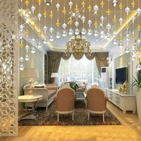 Wholesale wholesale door beads - Crystal Glass Bead Curtain Luxury Living Room Bedroom Window Door Wedding Decor Home Decor 2018 new fashion Hot SaleC0224
