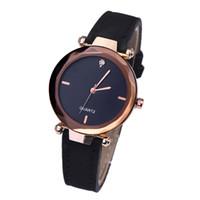 Wholesale diamonds coffee - Fashion new 2018 Grind coffee dial diamond women leather watches wholesale ladies casual dress quartz wrist watches
