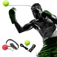 Wholesale head equipment - Fighting Ball Boxing Equipment with Head Band for Reflex Speed Training Boxing Punch Muay Thai Exercise