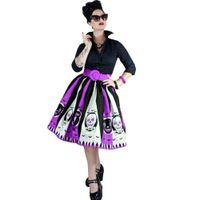 carnival costume designs UK - New Arrival Hot Selling Halloween Skirt Gholst Print Design Halloween Party Girl tutu Dresses for Girls Cosplay Carnival Costume