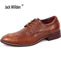 фотографии оптовых-Jack Willden Mens Casual Business Leather Shoes,  Men Wedding Party Shoes Men's Dress Derby Shoes Black Brown 4 Colors