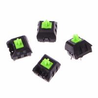 клавиатура новая оптовых-4Pcs Green RGB switches For Razer blackwidow Chroma Gaming Mechanical Keyboard New Design Hot