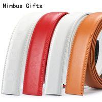 Wholesale Ribbon Belt Men - Nimbus Gifts Mens belts High quality Automatic Belts Strap Men ribbon belt High Quality cinturon hombre No Buckle belt 3.5cm