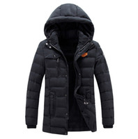 Wholesale Canada Outwear - Wholesale-New Fashion canada Winter jacket Men Thickening Casual Cotton Jacket Outwear Breathable fashion warm Coat parkas men