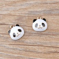 Wholesale bear charms resale online - Wholesale50pcs Oil Drop Zinc Alloy Colourful Bear Charm Pendants Gold Color Floating Enamel Fashion Jewelry Accessories FD25