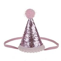 ingrosso baby girl topper-Bella Baby Girl Cappelli Caps Princess Crown Decorazioni per feste Toppers Bambini Favori Accessori per capelli fascia per la festa di compleanno