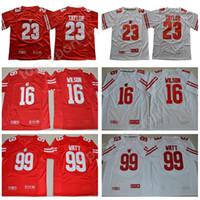 Wholesale russell football jersey - NCAA Wisconsin Badgers College Football 16 Russell Wilson Jersey Men 99 JJ Watt 23 Jonathan Taylor 25 Melvin Gordon III 1 Piggery Red White