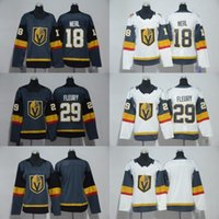 Wholesale Red Gray Hockey Jersey - Free shipping 17 -18 New Vegas Golden Knights Jersey 29 Marc-Andre Fleury 18 James Neal Man Ice Hockey Men Women Kids Youth Grey Gray White