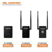 Wholesale comfast wifi router - COMFAST Wifi  2.4G 5.8G Dual Band extender antenna 750Mbps 11AC wifi Router  VS 300Mbps Wi-fi Roteador
