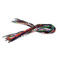 farbige seilarmbänder großhandel-Geflochtenes Seil Armband Draht DIY Schmuckzubehör Schnur Draht mehrere Farbe 7MM geflochten Armband Schnürsenkel Schnur auf Lager