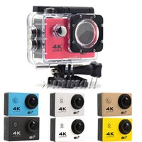 Wholesale sj4000 resale online - 50pcs Cheapest K Action Camera SJ4000 Style F60 Waterproof P Sport Camera Wifi inch LCD color with Retail Box