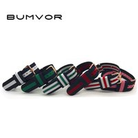 Wholesale 18mm nylon band - Fashion Multiple Colors Nato Nylon Military Watch Strap Army Sport Watchband Waterproof Sport Band Steel Buckle 18mm