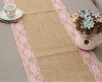 Wholesale Home Table Runners Wholesale - 50pcs Home Linen Lace Table Runner Beige European-style Fashion Contracted Classic Modern Luxury Tea Table Flag