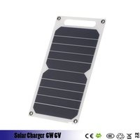 Wholesale monocrystalline solar cell for sale - 6W V USB Monocrystalline Sunpower Solar Charger Outdoor Emergency Multi function Ultra light Solar Panel Charger for MP3 mp4 smarphone