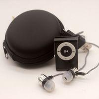 ingrosso borsa del trasduttore auricolare-YHYZJL Protable Mini Lettore Mp3 Lettore Mp3 Supporto Micro TFCard Slot Porta USB Sport USB Con Auricolare Con borsa