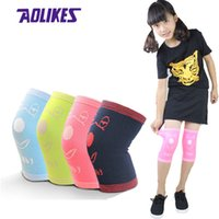 Wholesale kids skating pads - AOLIKES 1Pair Children Knee Support Kids Knee Protection Crawling Sport Safety Fitness Pad Dance Soccer Skating Kneecap