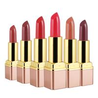 klasik ruj renkleri toptan satış-6 Renkler Yeni Klasik Mat Ruj Solmaz Seksi Kadın Lipgloss Nemlendirici Kozmetik Çıplak Rujlar Kırmızı Dudaklar Makyaj