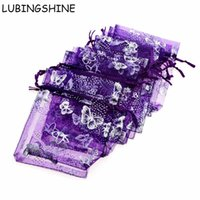 Wholesale butterfly gift pouch bag resale online - Lubingshine x20cm Jewelry Gift Organza Bags Wedding Candy Pouches Butterfly Beads Bag
