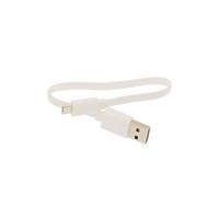 flat noodle cable оптовых-USB к Micro USB 2.0 кабель 20 см короткий плоский зарядный шнур лапша белый кабель для Android телефон Power Bank 500 шт. / лот