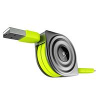 micro carregador de ar venda por atacado-2 em 1 cabo usb + micro usb cabos retrátil carregador do telefone móvel para iphone x 8 7 6 ipad air 1 m para xiaomi cabos