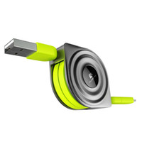 cargador de aire micro al por mayor-2 en 1 Cable USB + Cables Micro USB Cargador retráctil para teléfono móvil para iPhone X 8 7 6 iPad Air 1M para Xiaomi Cabos