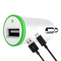 Wholesale usb car lighters online - 2 in Kit For Single USB Car Charger Adapter Lighter Socket A with Charging Cord Data Cable m for Phone
