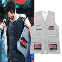 Wholesale turtle vest for sale - SIZE S XXL RAF SIMONS Big Bang G Dragon Hip Hop Vest Street Brand Men Fashion New Style