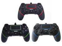 Wholesale Joystick Playstation Usb - 2018 New PS4 USB Wired Controllers Gamepads for PS4 Game Controller Vibration Wired Joystick for PlayStation 4 Console Gamers Not Wireless