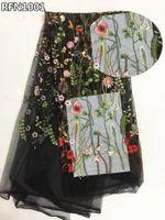 нигерский французский шнурок оптовых-Африканские кружева ткань 2018 цветы вышитые тюль ткань белый французский чистой кружева нигерийские ткани для свадебные платья RFN10