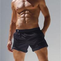 Wholesale translucent briefs - New Mens Swimwear Men Swimsuits Swimming Trunks Translucent Gay Swimwear Briefs Beach Shorts Mayo Sunga Swim Suits