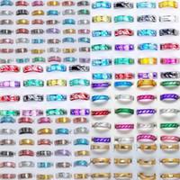 кольцо из алюминиевого сплава оптовых-1000шт 10style ювелирные изделия микс мода алюминиевые кольца навалом многоцветный группа кольца палец кольца ювелирные изделия